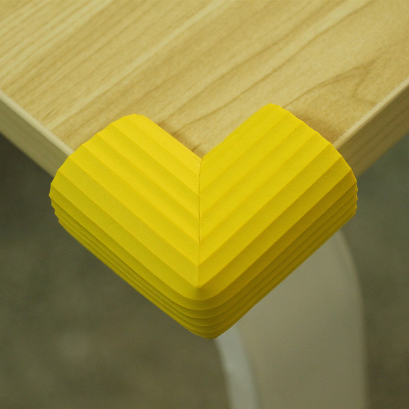 Yellow PVC Soft Baby Children Kids Safe Table Desk Corner Protector Guard Cover Furniture Desk Table Accessories 20pcs pvc soft baby children kids safe bed table desk corner protector cover furniture accessories white green coffee