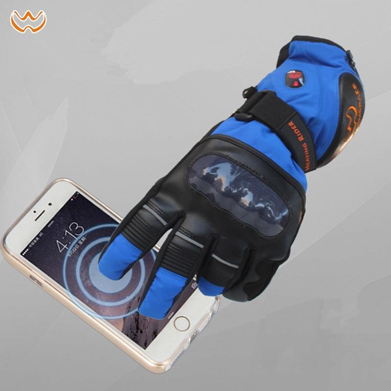 Новинка 11,11, высокоумные электрические перчатки, зимние мужские и женские перчатки для катания на лыжах, теплые водонепроницаемые перчатки ... - 5