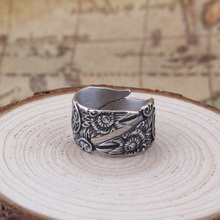 Dropshiping new style Stainless steel Adjust size Viking Raven Ring for men gift