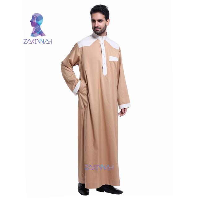 Dubai Style (Indian)  Apparel long sleeve Abaya thobe  Kaftan Robe For Men
