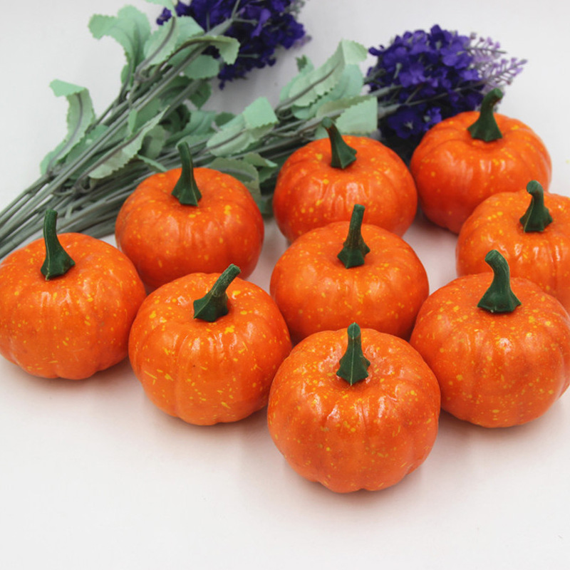 16pcs Mini Artificial Fake Foam Pumpkin For Thanksgiving Fall