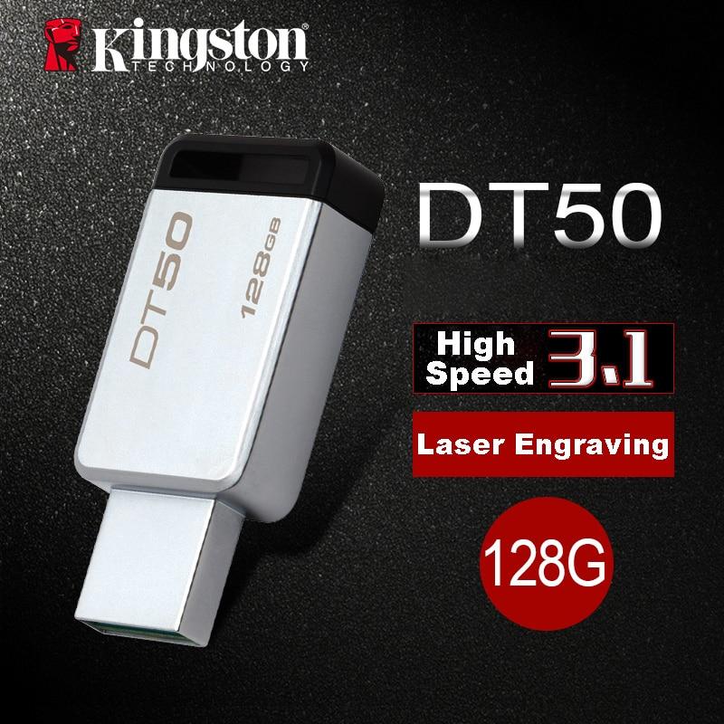 Kingston USB Flash Drive usb 3.0 128 GB Pen Drive Métal Flash usb Memory Stick 128 gb Memoria BRICOLAGE Artisanat Personnalisé Clé usb U Disque