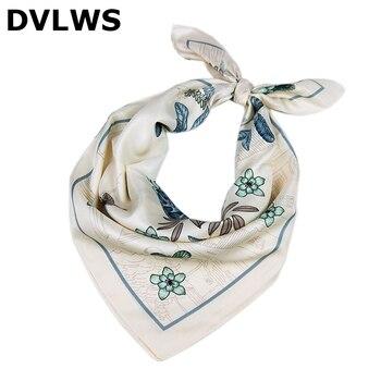 20Fashion Twill Small Square Silk Women Scarf Professional Women Scarf Bow Animal Flower Printed Sca