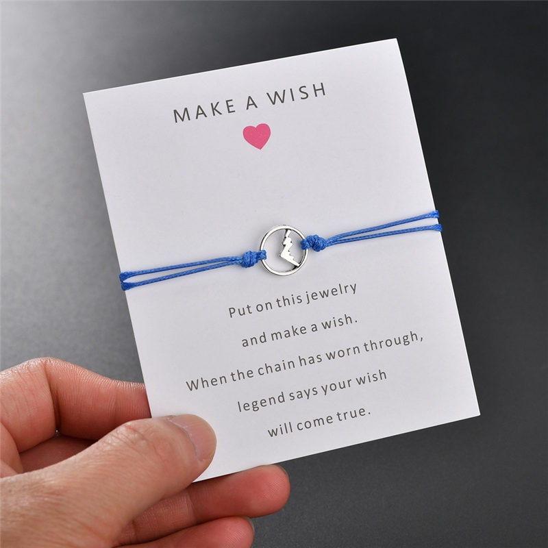 Message Card 7 Colors Metal Volcanic Bracelets Bangle for Women Rope Bracelet Friendship Gift Jewelry