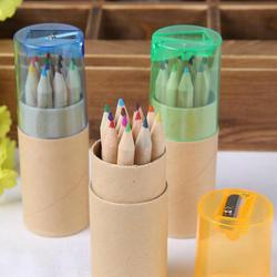 12 Pcs/lot 12 New Colored Pencils For Kids School Supplies Cute Wooden Writing Painting Pencils Colors