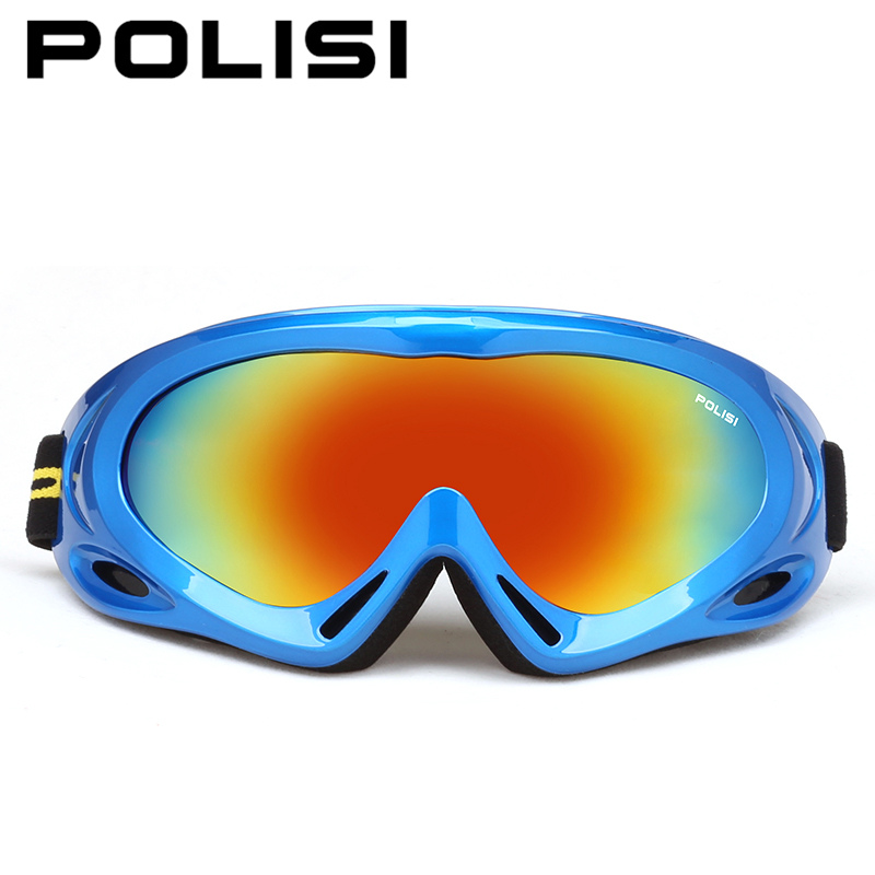 Prix pour POLISI Hommes Femmes Snowboard Motoneige Lunettes Protection UV Hiver Ski Neige Lunettes Anti-Brouillard Ski Esqui Planche À Roulettes Lunettes