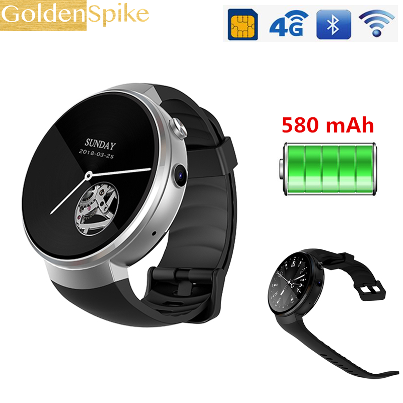 2018 New Z28 4G Smart Watch Android 7.0 1GB 16GB 580mAh GPS WIFI Hand-free call smartwatch Heart rate monitor Pedometer for oppo 2018 i8 smart watch 1 39 400 400 amoled display screen 4g gps wifi bluetooth smartwatch heart rate monitor z28 lem x lem7 i7 h5