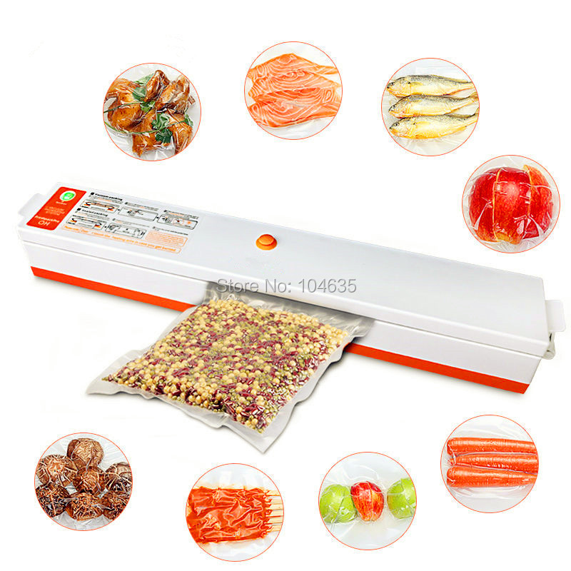 Free shipping Household Food Vacuum Sealer Packaging Machine for Home Film Sealer Vacuum Packer Including 15Pcs Vacuum Bags shineye 220v 110v household food vacuum sealer packing machine film vacuum packer container food sealer saver include 10pcs bags