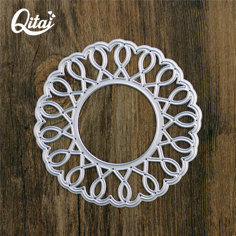 wreath Design Metal Cutting Die For DIY Scrapbooking Album Paper Cards CL