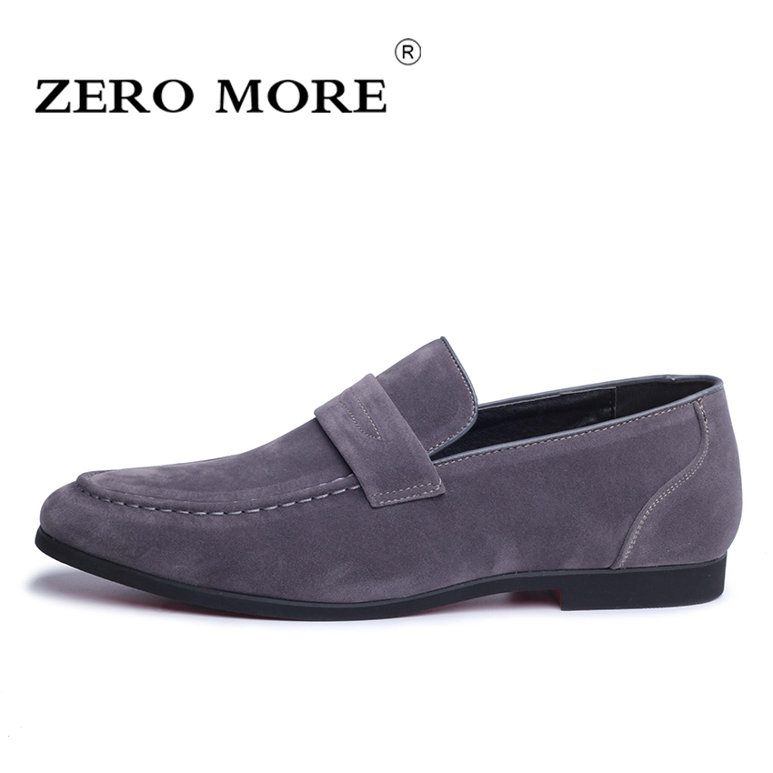 ZERO MORE High Quality Slip on Men Shoes Leather Loafers for Man Footwears Casual Breathable Men Flat Shoes 4 Colors #ZM88 top brand high quality genuine leather casual men shoes cow suede comfortable loafers soft breathable shoes men flats warm