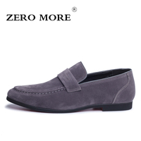 ZERO MORE High Quality Slip On Men Shoes Suede Leather Loafers For Man Footwears Sapato Masculino
