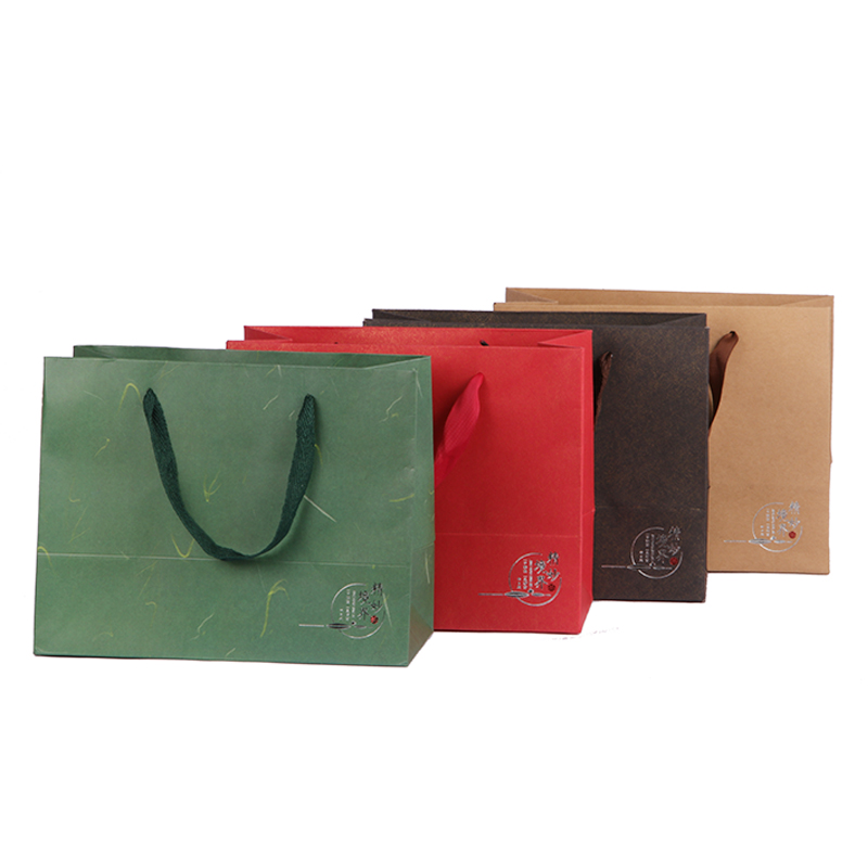 Paper-Bag Package Wedding Gift With Handle Birthday-Party Four-Color Choose Xin Yi Jia