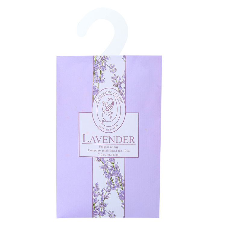 Aromatherapy Natural Smell Incense Wardrobe Sachet Air Fresh Scent Bag Perfume Lavender Rose Jasmine Lily Flower lavender Lemon  (10)