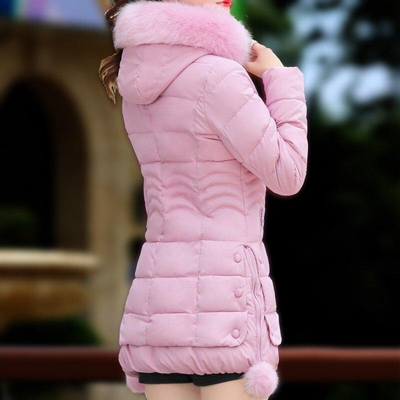 Sportiva Di Sottile Giacca Nero Rosa colore Cotone Il lungo Ispessimento Medio Femminile Tuta Moda rosso Inverno blu Wadded Imbottito 5170 S70AEqxx