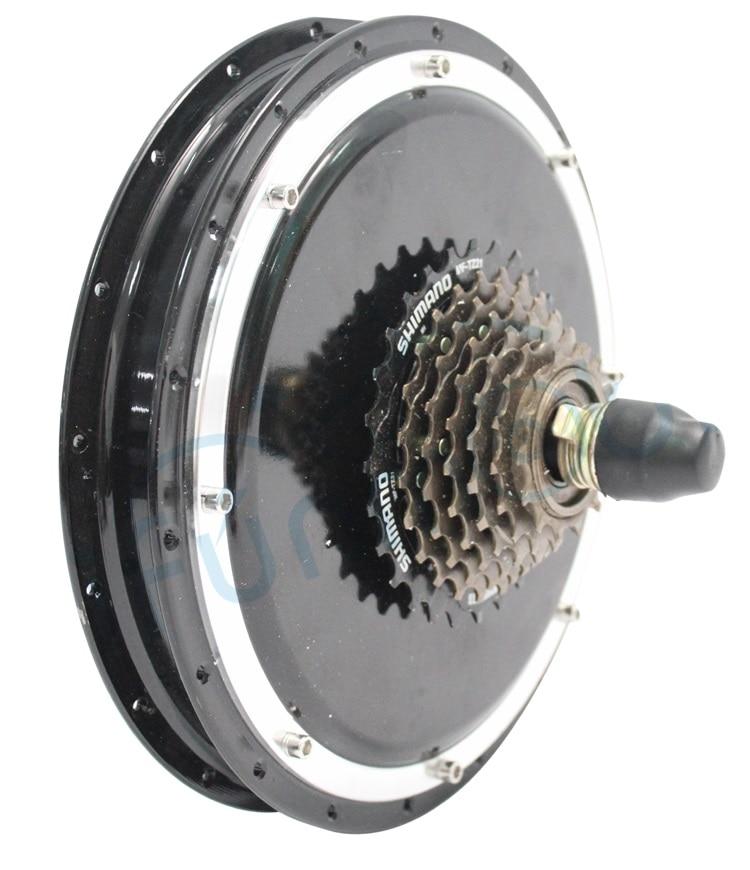 Puissant 24 V 36 V 48 V 250 W Ebike sans brosse Mini roue arrière de moteur de moyeu avec 7 vitesses vitesse moyeu décrochage 135mm vélo électrique