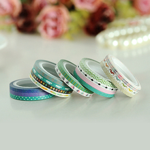 16pcs/lot 3mm*5m new design cute home decoration slim washi paper tapes