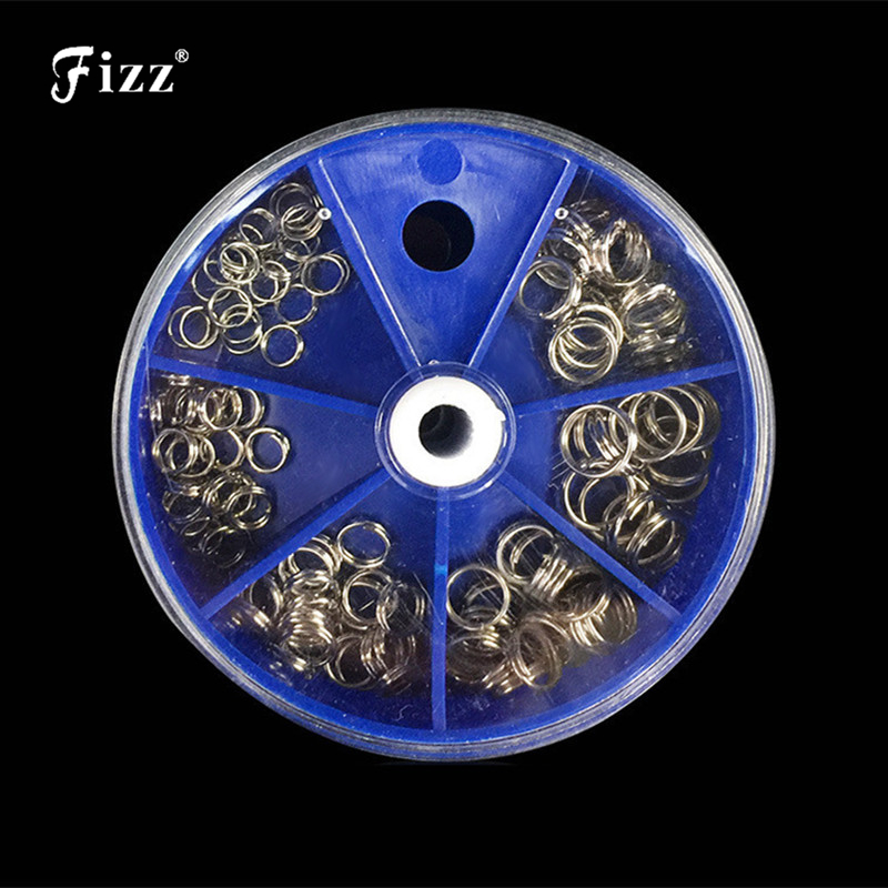5 Sizes/Box Stainless Steel Double Circle O-shape Split Rings Lure to Hook Fishing Connector Accessories5 Sizes/Box Stainless Steel Double Circle O-shape Split Rings Lure to Hook Fishing Connector Accessories