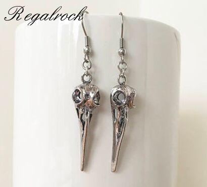 e49369338 Regalrock Hot Raven Bird Brincos Bohemian Hummingbird Skull Earrings ...