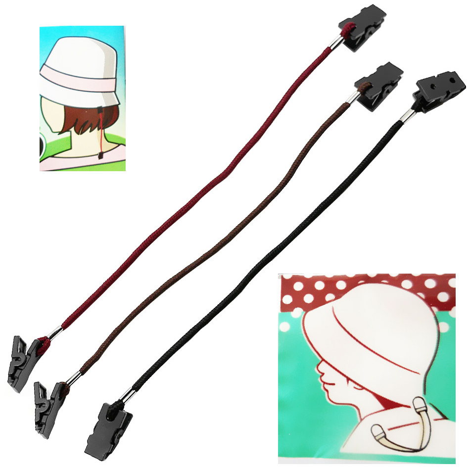 Outdoor Hat Scarf Wind Clip Lanyard Rope Cord For Camping Hiking Travell Climbing Equipment Clothes Hat Bag Tools Accessories