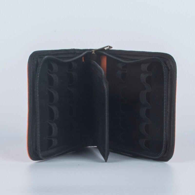 Image 3 - 패션 오렌지 12 펜 가죽 가방 12 pcs 럭셔리 비즈니스 선물 펜을 설치할 수 있습니다bag nikebag bucketbag -