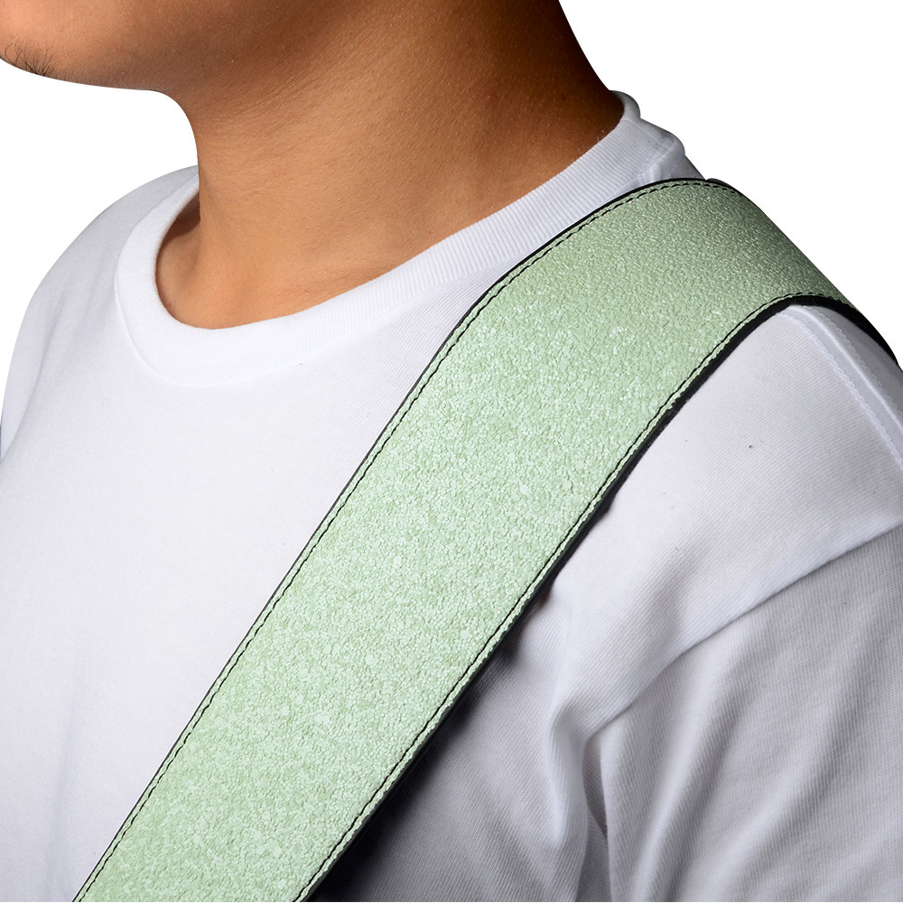 Green Guitar Belt PU Leather Guitar Strap for For Acoustic Electric Guitar and Bass  S517-B just star brand new design fashion flowers pu leather women s handbag ladies girls shoulder cross body drawstring bucket bag