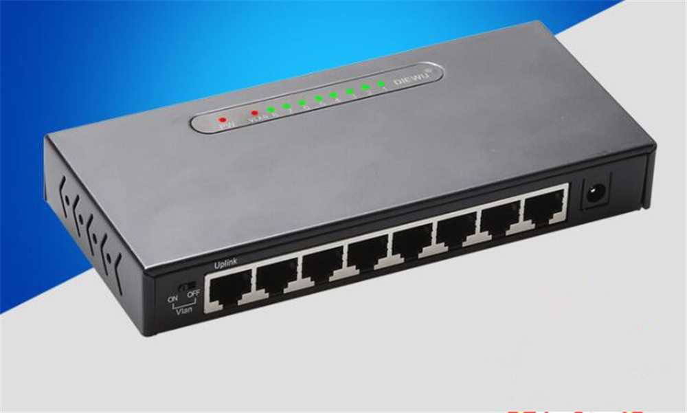 8 Port Gigabit Switch Desktop RJ45 Ethernet Switch 10/100/1000mbps Lan Hub Switch 8 port Shell Metal Network Switch