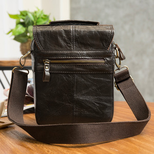 Image 3 - Original Leather Male Fashion Casual Tote Messenger bag Design Satchel Crossbody One Shoulder bag Tablet Pouch For Men 144