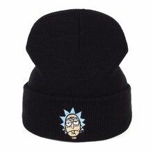 Rick Beanies Рик и шапка Морти эластичный бренд вышивка теплые зимние унисекс вязанные шапочки Skullies US анимация горнолыжные шапки