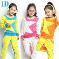 IDGIRL Kids Clothes Long-Sleeved Suit Girls Clothes Pentacle Multicolor  Sport Piece Suit Children Family Clothing  Sets BD001
