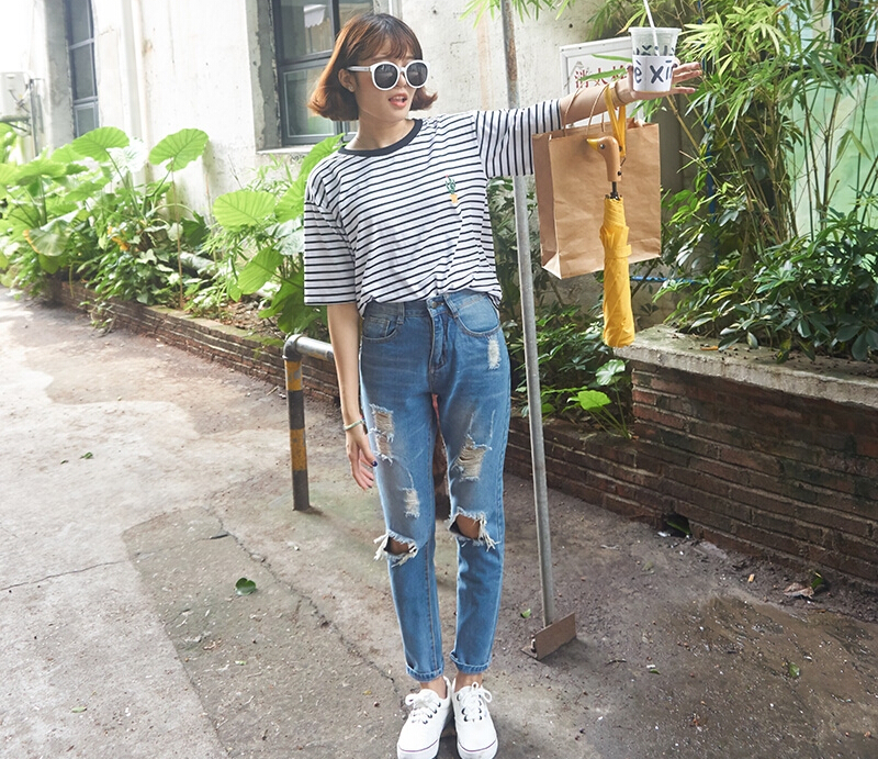 Aliexpress.com : Buy Retro Washed high waist jeans Vintage ...