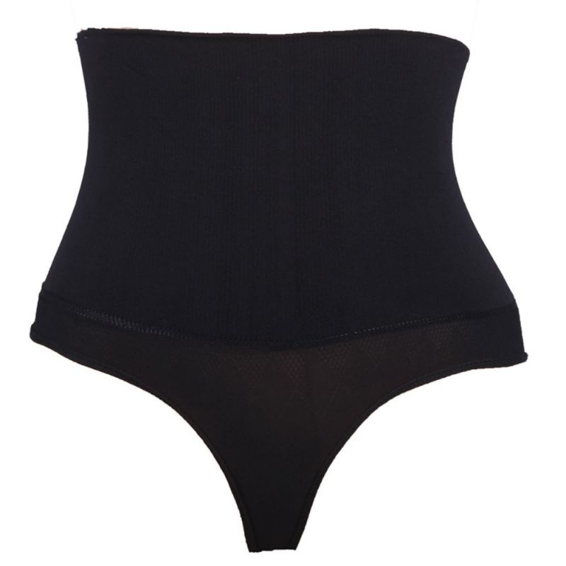 Women's Solid Underwear Panties Sexy Underwear High Waist Seamless Body Shaping Hip Shaped Body Thong Underwear Plus Size