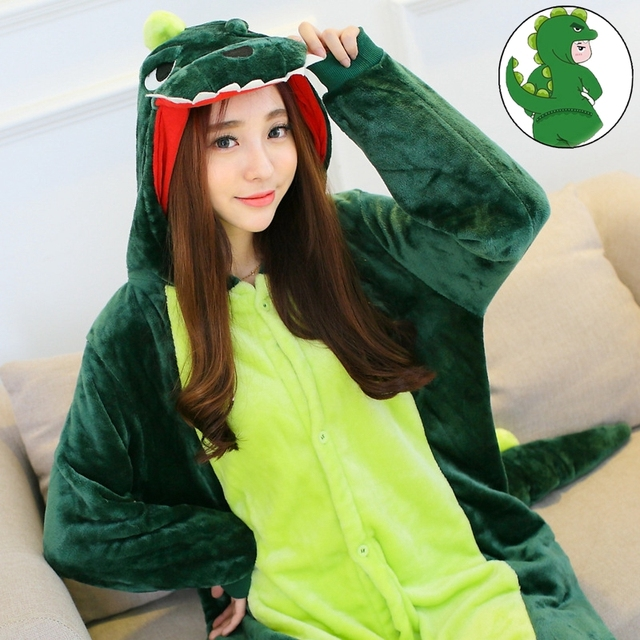 Pyjamas Entero Women Sleep Pajamas Sleepwear Animal Pajamas One Piece Pyjama  grass Dinosaur Femme Home Clothing 2f32fa1c1