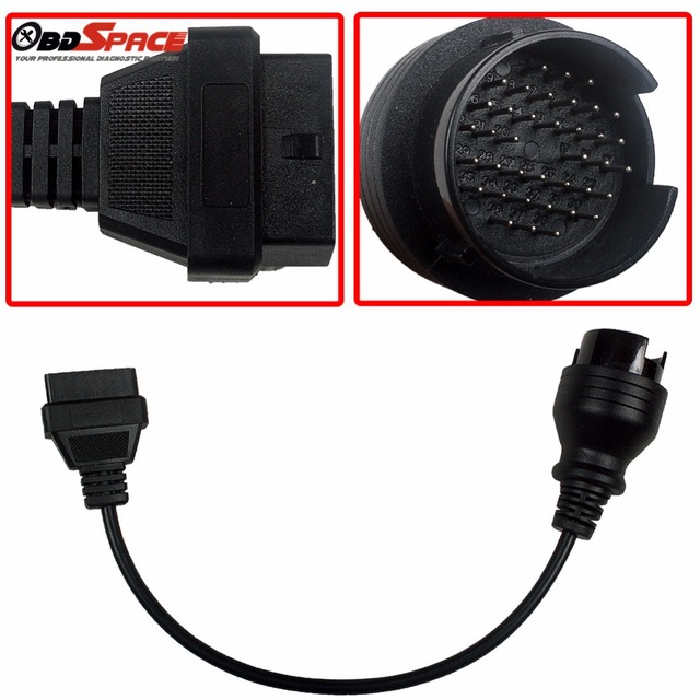 2017 Newest IVECO 38Pin to 16pin OBD2 Connector Diagnostic Cable with Interface 38pin For IVECO  Iveco daily OBD2 Connectors