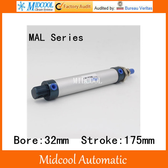 Auminium alloy mini air cylinder MAL32-175 bore 32mm stroke 175mm double acting pneumatic small cylinders auminium alloy mini air cylinder mal32 175 bore 32mm stroke 175mm double acting pneumatic small cylinders