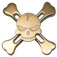 Skull Metal Hand Spinner Fidget Focus Toy EDC Finger Spin Gyro ADHD Autism Children