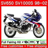 Fairing For SUZUKI SV650S SV400S SV1000S 98 99 00 01 02 105NO.0 SV 650S 400S 1000S SV400 S 1998 1999 2000 2001 2002 Blue white