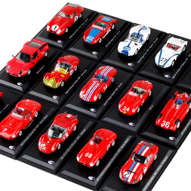 LEO Kids Toys 1:43 Diecast Car Model Various Red Storm Sports Car Collection Decoration Retro Racing