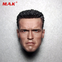 collection 1/6 scale Arnold Schwarzenegger head sculpt head carving model Terminator 2 T800 12 for 12 inches action figure custom arnold schwarzenegger head sculpt 1 6 scale war damage edition t800 head carving model toys