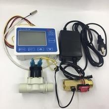 """ZJ LCD M medidor de sensor de fluxo de 1/2 """"kit completo para medição de líquidos"""