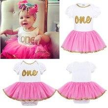 5827d6b887a9f 1 Pc mignon bébé fille vêtements 1st anniversaire gâteau Smash tenues  infantile pettijupe vêtements ensembles barboteuse + Tutu .