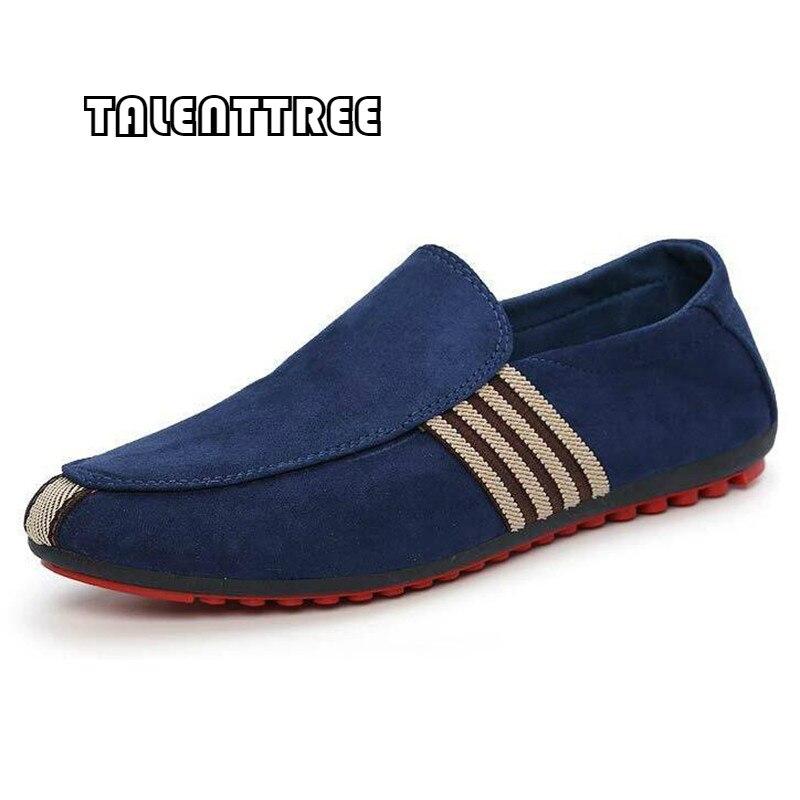 34bf6bda Comprar 2018 hombre zapatos para caminar casuales de ventilación hombres  Sapato Masculino lona rojo antideslizante conducción mocasín mocasines  zapatos ...