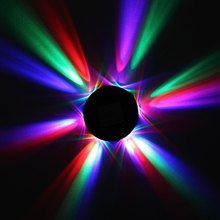 Full Color UFO 48 LEDs Voice Control Sunflower LED Stage Effect Light Rotating RGB Laser Disco DJ Party Holiday Dance bulb