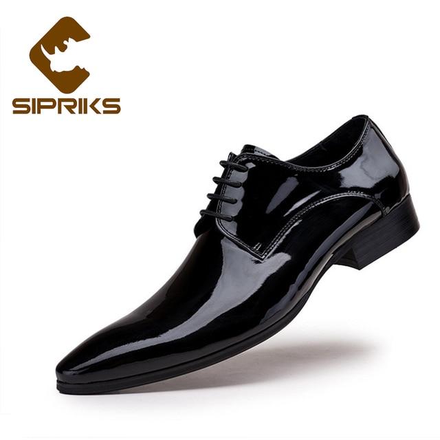 8ca55552a0 Sipriks Italienische Schuhe Männer Kleid Mode Herren Schuhe Leder Braun  Business Spitz Formale Schuhe Herren Lackleder