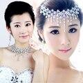 Тиара Свадебный лоб ювелирные изделия горный хрусталь повязки на голову свадебный головной убор корона диадемы и аксессуары для волос голова ювелирные изделия