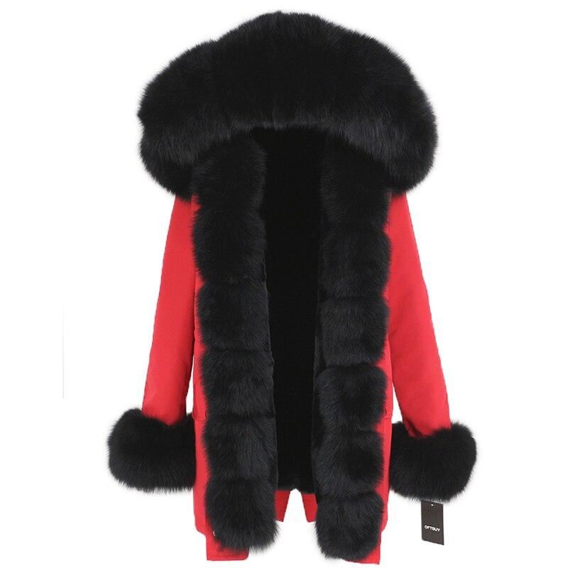 OFTBUY Waterproof Long Parka Winter Jacket Women Real Fur Coat Natural Fox Fur Collar Hood Thick Warm Streetwear Detachable New 67