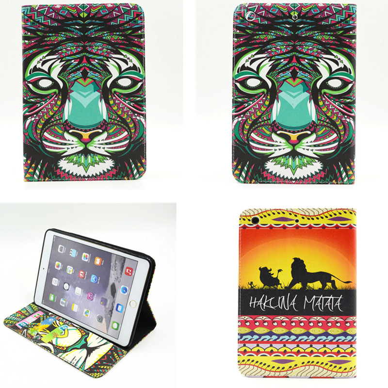 BF Cute Flower Case For iPad mini & 2 & 3 Fashion Design PU Leather Cute Cover Stand For Apple iPad Mini Tablet Flip Cases