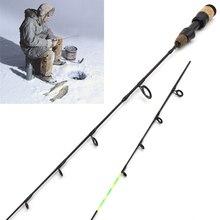 NEW 58cm Winter Ice Fishing Rods 2 tips Spinning Rod Carbon  Fiber pole Ultra-light Carp Free shipping