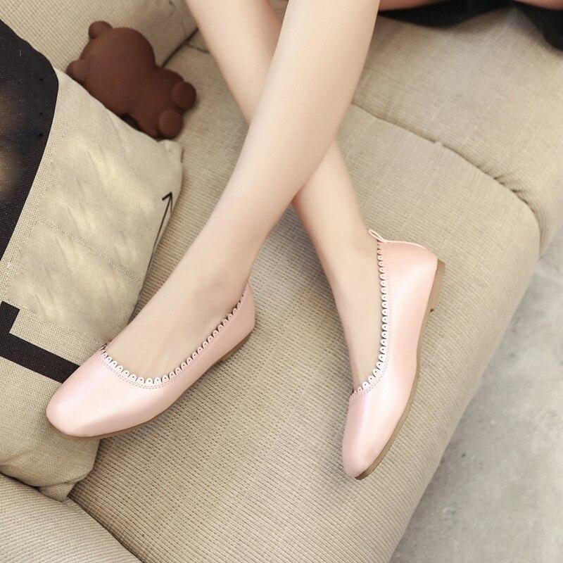 Automne Casual A c Femmes Confort Ballet b Doux Chaussures Flats Dames Printemps De Bout Femme Arrivent Loisirs Pointu Nouveau 2018 twOqgg