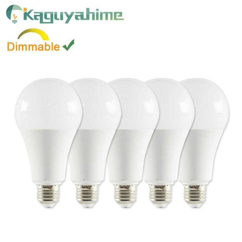 Kaguyahime 1pc/5pcs 6w 20W Dimmable E27 LED 220V Lamp LED E27 Bulb E14 High Bright LED Light Lampada Lampara Bombilla Ampoule
