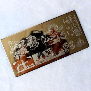 Image 5 - Halloween Weihnachten Nagel Stanzen Platten Nail Stempel Polnischen Bild Nagel Kunst Bild Konad Drucken Stempel Stanzen Maniküre Vorlage